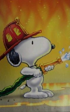 Snoopy Fireman/Firefighter Peanuts Blank Card by KatKreated on Etsy Charlie Brown Y Snoopy, Snoopy Love, Firefighter Paramedic, Volunteer Firefighter, Firefighter Gifts, Peanuts Cartoon, Peanuts Snoopy, Snoopy Quotes, Dog Quotes