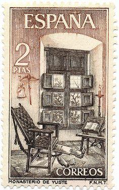 1965 Spanish Stamp - Yuste Monastery