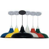 2x Pendente Prato Colorido Moderno Lustre Luminária De Mesa