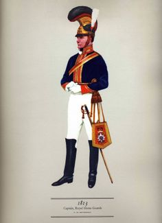 Hugh Evelyn - Cavalry Uniforms of the British Captain royal horse guard 1813