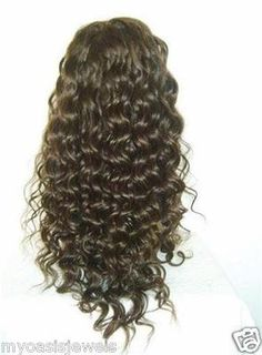 100% Indian Human Hair Remi Remy Full Lace Wig Wigs #1B High Quality Hand Tied