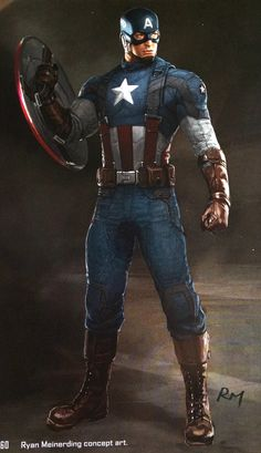 "Concept art of Captain America from Marvel's ""Captain America: The Winter Soldier"" Captain America Comic, Capitan America Marvel, Capitan America Chris Evans, Captain America Costume, Chris Evans Captain America, Capitan America Winter Soldier, Marvel Comics, Hq Marvel, Marvel Heroes"