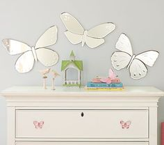 Shop butterfly mirror from Pottery Barn Kids. Find expertly crafted kids and baby furniture, decor and accessories, including a variety of butterfly mirror. Pottery Barn Kids, Girl Nursery, Girls Bedroom, Bedrooms, Nursery Room, Nursery Ideas, Bedroom Ideas, Nursery Mirror, Kids Mirrors