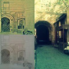 seen in al moaez street   my sketch , effects and image