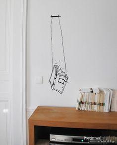 """Stickers """"Le bouquin"""" par Poetic Wall"""