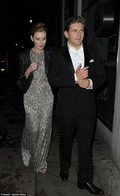 What would the Dowager say? Downton Abbey's Laura Carmichael, Lily James and Allen Leech leave the Groucho Club in the small hours after a wild night out!!