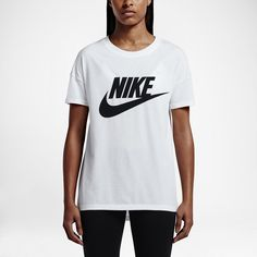 【NIKE】シグナル ロゴ ウィメンズ Tシャツ_ホワイト/ブラック