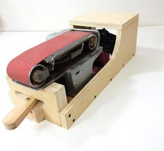 Jax Design: Belt Sander Stand -- Can Sit In 3 Positions