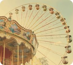 I love the idea of using carousels and fairs wheels as inspiration for a girls nursery