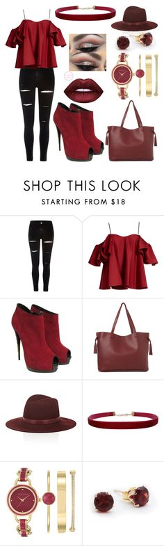 """Dark Colored Wednesday"" by kindee01 ❤ liked on Polyvore featuring River Island, Anna October, Giuseppe Zanotti, Street Level, Janessa Leone, Humble Chic and Anne Klein"