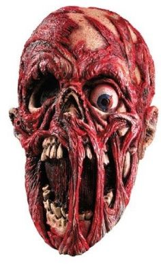 Screaming Corpse Overhead Mask One Size Creepy Evil Flesh New Dead Scary #Rubies #Overhead #Halloween