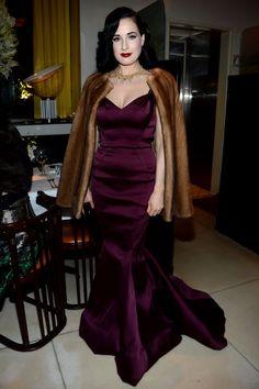Dita Von Teese in Zac Posen Pre-fall 2014, #preo her dress on #MO now!