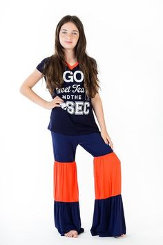 Kids Game Day Ruffle Tiered Pants