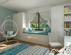 Dom we Włocławku, 2017 Home Bedroom, Girls Bedroom, Bedroom Decorating Tips, Cute Bedroom Ideas, Minimalist Room, Childrens Room Decor, Cool Rooms, House Rooms, New Room