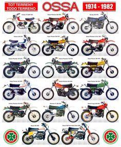 Ossa Vintage Cycles, Vintage Bikes, Vintage Motorcycles, Cars And Motorcycles, Enduro Motorcycle, Motorcycle Posters, Motorcycle Art, Motorcycle Types, Enduro Vintage