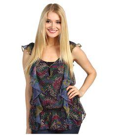 Dept Sleeveless Flower Chiffon Top - Camasi & Tricouri - Imbracaminte - Femei - Magazin Online Imbracaminte
