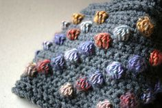 Cozy Crochet Cowl - Rainbow Bobble and Grey