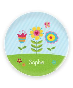 Spring Blooms Personalized Plate