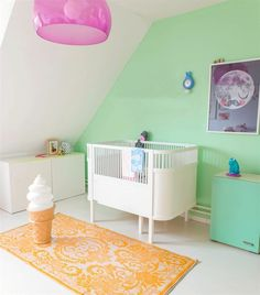 Not your typical nursery pastels.