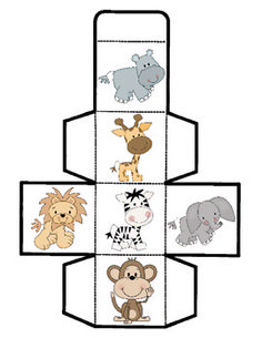 Zoo Animal Cube Game