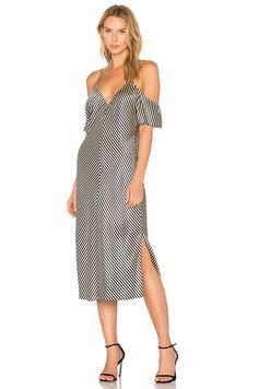 T BY ALEXANDER WANG Cold Shoulder Silk Midi Dress. #tbyalexanderwang #cloth #