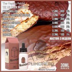 The Vaping Rabbit, The Milkman Moonies Diy Vape Juice, Vape Diy, Vape Facts, E Juice Recipe, Diy E Liquid, Clone Recipe, Vanilla Cupcakes, Coffee Cake, Chocolate