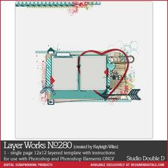 Layer Works No. 280- Studio Double-D Templates- LT302741- DesignerDigitals