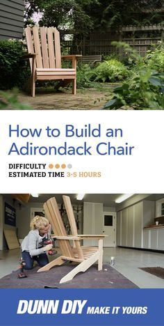 Build this Adirondack chair yourself with our easy step-by-step DIY tutorial!