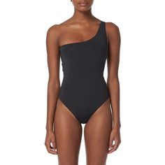 Women's Mara Hoffman Cher One-Piece Swimsuit (760 RON) ❤ liked on Polyvore featuring swimwear, one-piece swimsuits, black, swimming costume, one piece bathing suits, 1 piece bathing suits, mara hoffman bathing suits and mara hoffman swimwear