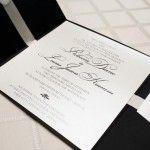 Black & White Wedding Invitation