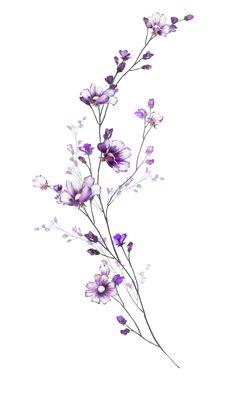 Breathtaking Flower Tattoos Ideas – Brenda O. - diy tattoo images - 55 Breathtaking Flower Tattoos Ideas Brenda O. Cute Tattoos, Body Art Tattoos, Small Tattoos, Small Flower Tattoos, Tatoos, Purple Flower Tattoos, Tattoos Skull, Nature Tattoos, Floral Tattoo Design