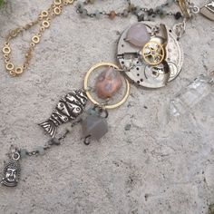 Handmade Crystal Steampunk Gemstone by GypsiesBitsNBaubles on Etsy
