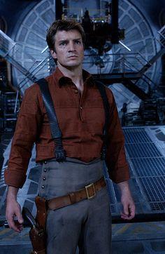 Mal, Serenity, tech suspenders, grey pants