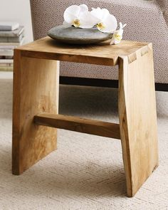 beautiful stool made from solid wood