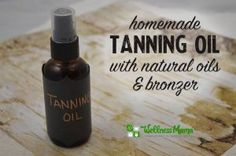 Homemade tanning oil with natural oils and bronzer