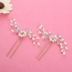 Wedding Hair Pins Crystal Bridal hair pins faux pearls hair