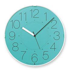 Lemnos Awa Cara Clock - Blue