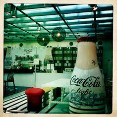 Amsterdam de Bijenkorf Big Shoppingcenter Promotion with new Coke Light in Gaultier Look, i like it
