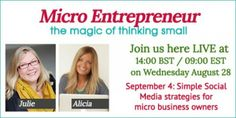 Micro Entrepreneur Hangout: Simple Social Media Strategies for micro business owners
