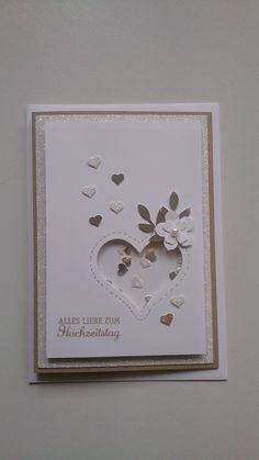 Best Screen Stampin up diamond wedding shake card - . Tips From the moment any person thinks that they're smitten, these people continue looking forward to Anniversary Crafts, Silver Anniversary Gifts, Happy Anniversary Wishes, Anniversary Gifts For Parents, Diamond Wedding Anniversary Cards, Stampin Up, Homemade Valentine Cards, Wedding Flower Decorations, Shake