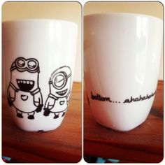 AHHHHH! SOMEONE MAKE THIS FOR ME!!!!!!! --> Sharpie Minion Mug.