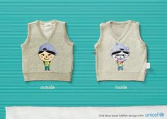 UNICEF. New ad campaign made by Korean agencyCheil Worldwidefor UNICEF. 'Child abuse leaves indelible damage within.' 1.