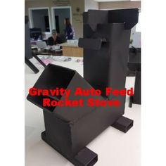 Gravity Feed Rocket Stove for Cooking. Efficient Stove and burns clean and leaves little ash. Ecozoom and Silver Fire Rocket Stove