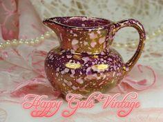 Pink Creamer / Burgundy Creamer / Little Pink by HappyGalsVintage