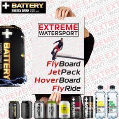 Personeelsuitje? Teambuilding? Vrijgezellenfeest? Motivatiemiddag? Verjaardagscadeau? Koop NU uw Boarding Ticket online op www.extremewatersport.nl voor een fantastische FlyBoard / JetPack / HoverBoard / FlyRide trip. Powered by Battery Energy Drink!