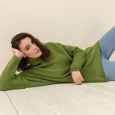 Long high neck sweater dress #mys19