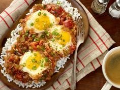 Cajun Tomato Gravy with Eggs: we'll take this dish for breakfast, lunch or dinner!