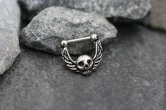 Silver Skull 16g Clicker for Septum, Cartilage, Tragus, Eyebrow, Rook, Conch- Sparkle your way into style this summer with this alluring septum ring ! Hand crafted with only the finest materials, this