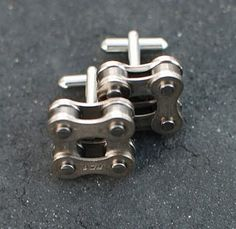 Bike Chain Cufflinks.