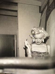 Marilyn Monroe at a charity event at the Hollywood Bowl in 1953 (Photograph by Bruno Bernard) : MarilynMonroe